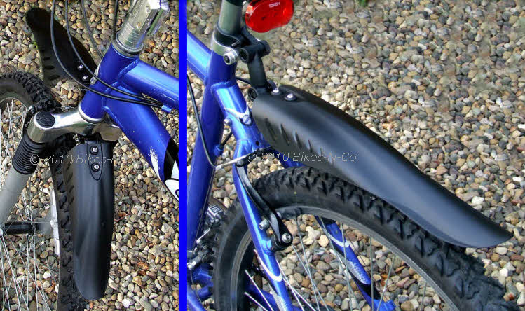 Down Hill / Mountain Bike Mudguards - Front and Rear