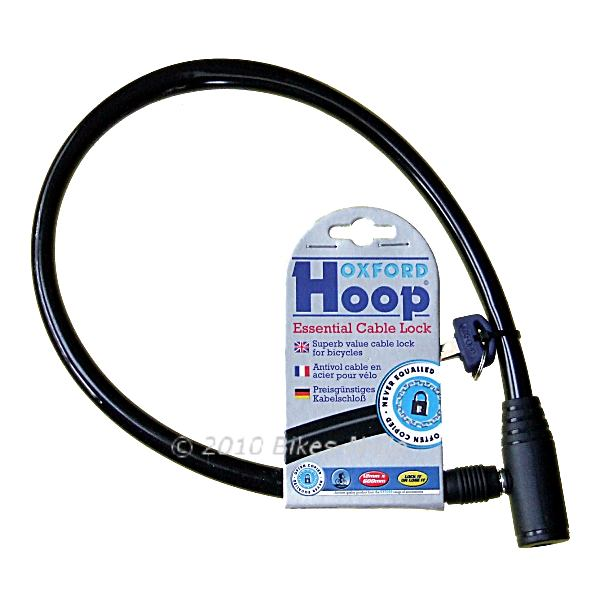 Oxford Hoop Lock, Key Operated Bicycle Lock in 3 Colours