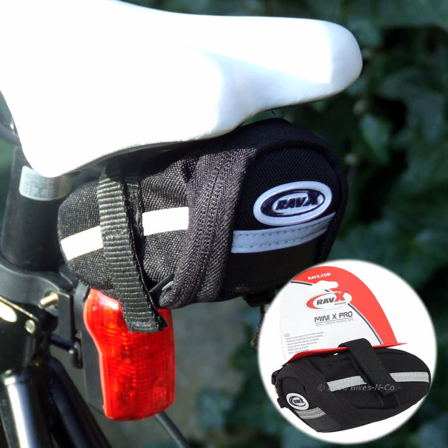 Mini-X-Pro Small, Easy, Velcro-On Saddle Bag from Rav-X