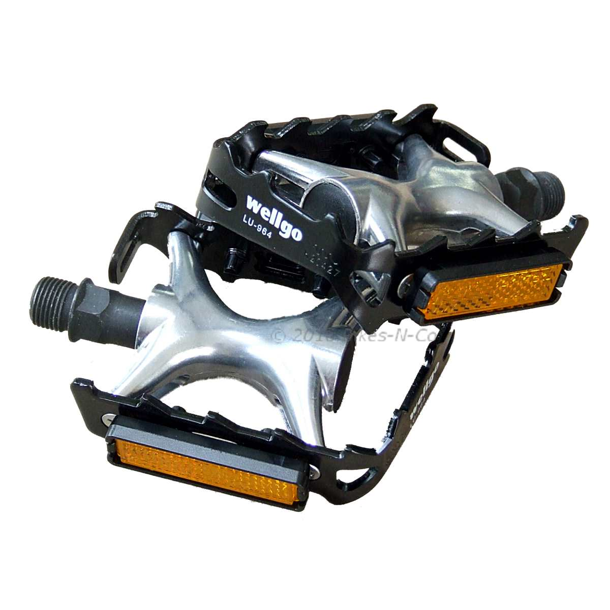 Wellgo 2-Part Alloy Mountain, Road or Racing Bike Pedals