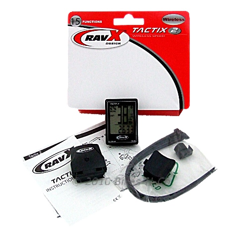 RavX Tactix-2 15 Function Waterproof, Wireless Cycle Computer